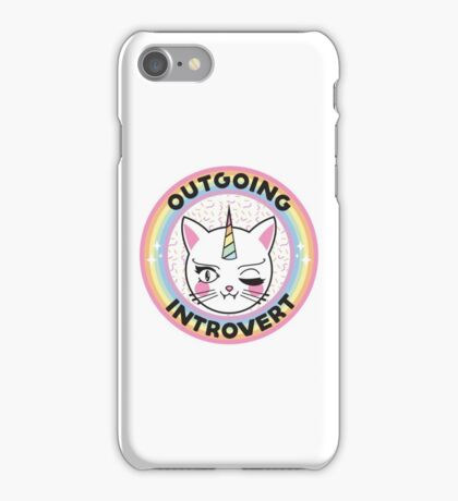 Outgoing Introvert Unicorn Cat iPhone Case/Skin