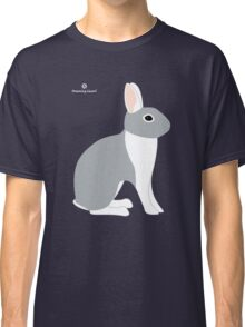 Lilac White Eared Rabbit Classic T-Shirt