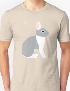 Lilac White Eared Rabbit Unisex T-Shirt