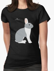 Lilac White Eared Rabbit Womens T-Shirt