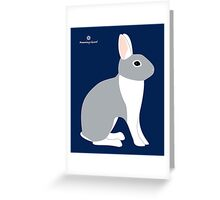 Lilac White Eared Rabbit Greeting Card