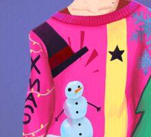 Ugly Sweater Lady Sticker