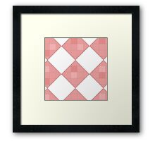 Pink Checkers Framed Print