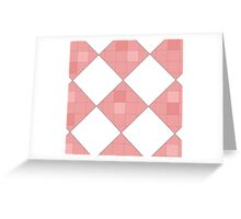 Pink Checkers Greeting Card