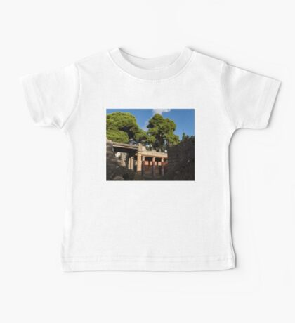 Herculaneum Ruins - Colorful Murals Courtyard Behind a Rough Stone Wall Baby Tee