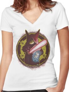 Pika Sidious  Women's Fitted V-Neck T-Shirt