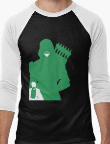 Green Arrow Silhouette Men's Baseball ¾ T-Shirt