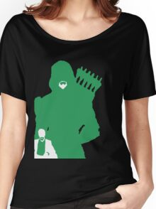 Green Arrow Silhouette Women's Relaxed Fit T-Shirt