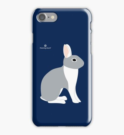 Lilac White Eared Rabbit iPhone Case/Skin