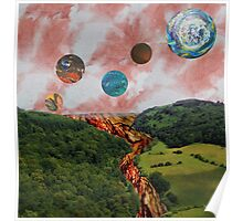 Chaotic earth landscape Poster