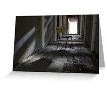 Lonely chair Greeting Card