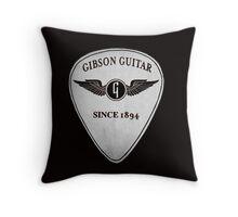 Gibson guitar pick plectrum Throw Pillow