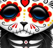 Cute Red Day of the Dead Kitten Cat Sticker