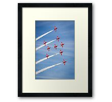 Red Arrows at the Southport airshow. Framed Print