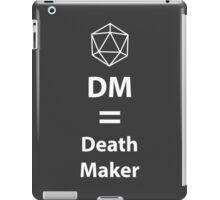 Dungeon Master = Death Maker iPad Case/Skin