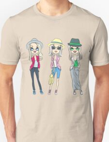 Fashion hipster girls in hats T-Shirt