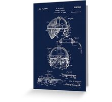 Antique Welders Goggles blueprint drawing Greeting Card