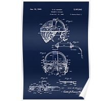 Antique Welders Goggles blueprint drawing Poster