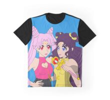 Luna and Chibiusa friendship white Graphic T-Shirt