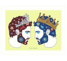 """""""Mirror, mirror on the wall, who is the fairest queen of them all"""" Art Print"""