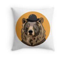 Business Bear Throw Pillow