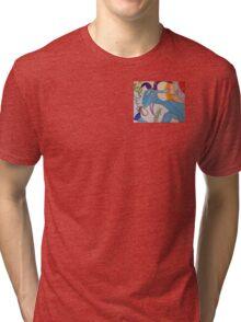My Trippy Blue Goat Tri-blend T-Shirt
