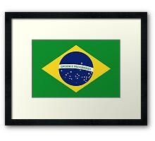 Brazil - Brazilian Flag Framed Print