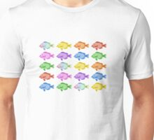 Multicoloured Fish Unisex T-Shirt