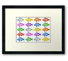 Multicoloured Fish Framed Print