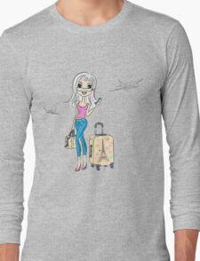 Fashion girl traveler Long Sleeve T-Shirt