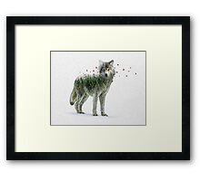 Wild I Shall Stay | Wolf Framed Print
