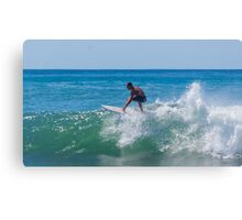 Surfing Little Malibu Canvas Print