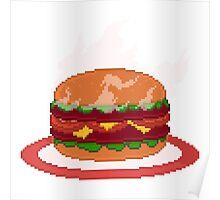 Super Size My Appetite Pixel Art Illustration Poster
