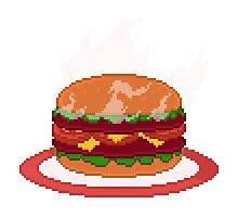 Super Size My Appetite Pixel Art Illustration Photographic Print