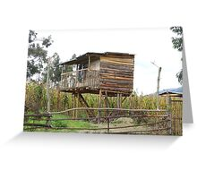 House on Stilts Greeting Card