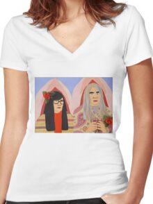 For my man Kurbeth Portlandia Sweatshirt Women's Fitted V-Neck T-Shirt
