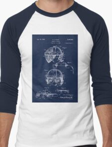 Antique Welders Goggles blueprint drawing Men's Baseball ¾ T-Shirt