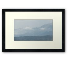 Cloudy Mountain Framed Print