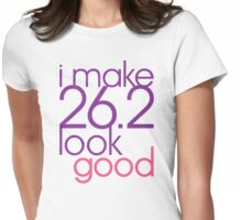 i make 26.2 look good [women's prp/pnk] Womens Fitted T-Shirt