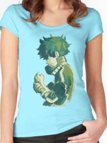 Midoriya Izuku - Boku No Hero Women's Fitted Scoop T-Shirt