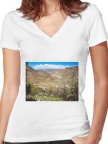 Beautiful Salt River Canyon Women's Fitted V-Neck T-Shirt