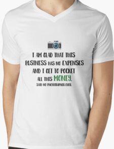 Photographer Funny Fact Mens V-Neck T-Shirt