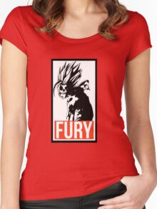 FURY - Dragon Ball Women's Fitted Scoop T-Shirt