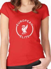 European Elite - Liverpool FC - White Women's Fitted Scoop T-Shirt