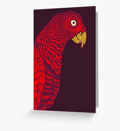 The Red Bird Greeting Card