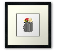 Your Trash Goes Here Pixel Art Illustration Framed Print