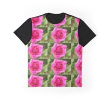 Lovely aromatic pink rose flower picture. Graphic T-Shirt