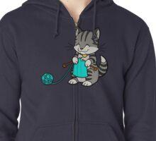 Knitty Kitty Zipped Hoodie