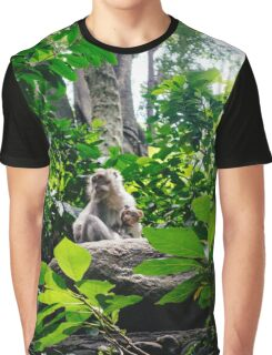 Monkey and Baby Graphic T-Shirt