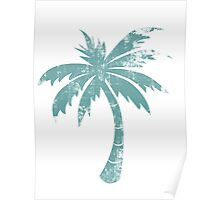 Summer Caribbean Palm Trees Poster
